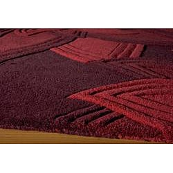 Lotus Red Hand-Tufted Wool Rug (8' x 10')