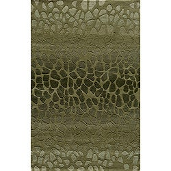 Ombre Stones Green Hand-Tufted Wool Rug (8' x 10')
