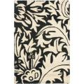 Handmade Bliss Beige/ Black New Zealand Wool Rug (2' x 3')