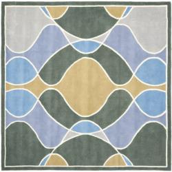 Safavieh Handmade Tiff Grey New Zealand Wool Rug (6' Square)