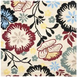 Safavieh Handmade Garden Ivory New Zealand Wool Rug (6' Square)