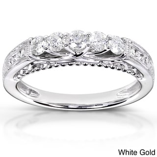 Annello 14k White, Rose, or Yellow Gold 1/2ct TDW Round-cut Diamond Band (H-I, I1-I2)