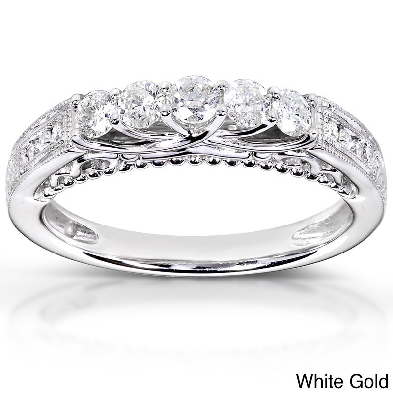 Annello 14k White, Rose, or Yellow Gold 1/2ct TDW Round-cut Diamond Band (H-I, I1-I2) at Sears.com
