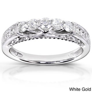 Annello 14k Gold 1/2ct TDW Round-cut Diamond Band (H-I, I1-I2)
