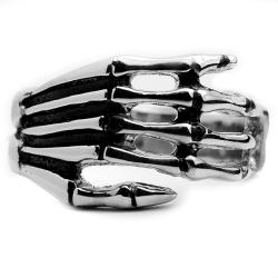 Oliveti Stainless Steel Men's Skeleton Hand Ring