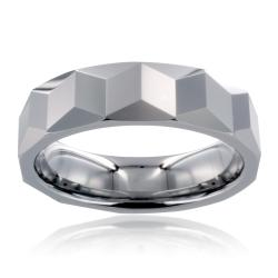 Men's Tungsten Carbide Prism Design Ring (6 mm)