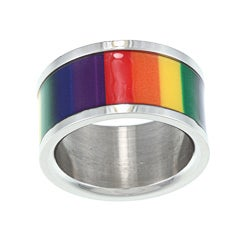 Stainless Steel Rainbow Film Ring