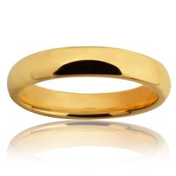 Tungsten Carbide Gold Classic Ring