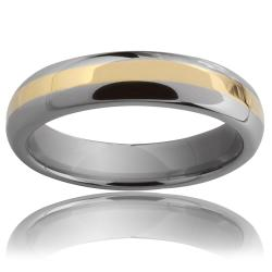 Tungsten Carbide Gold Stripe Ring
