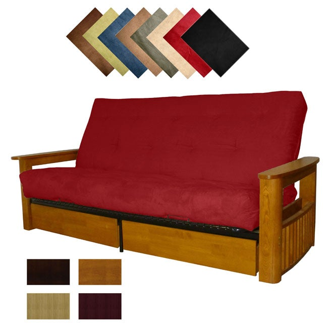 Columbus Microfiber Suede Inner Spring Full-size Futon Sofa Bed Sleeper at Sears.com