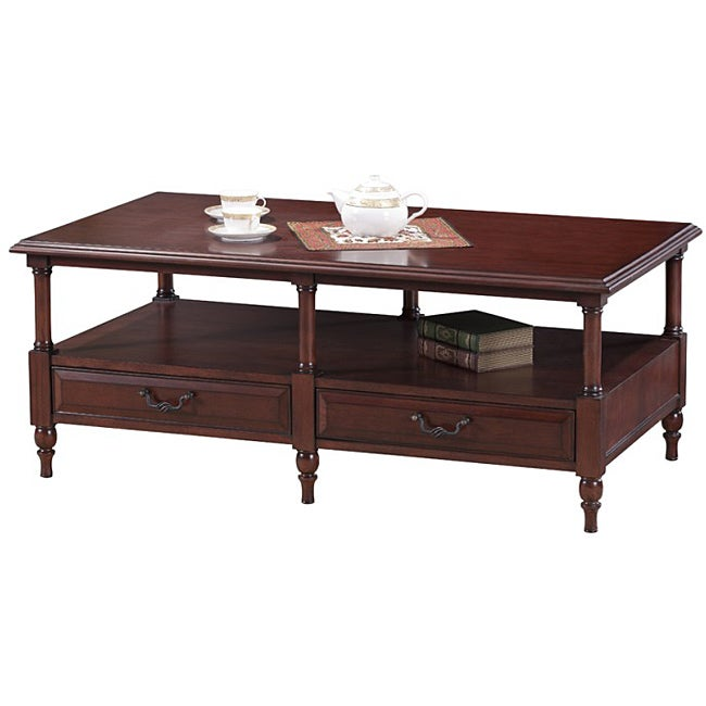 Cherry Six Leg Coffee Table