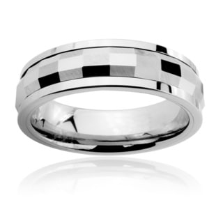 Men's Tungsten Carbide Multi-faceted Rectangle Spinner Ring (6 mm)