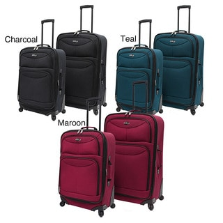 U.S. Traveler Lightweight 2-piece Spinner Checked Luggage Set