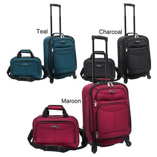 U.S. Traveler US3602 Two-piece Carry-on Spinner Polyester Luggage Set