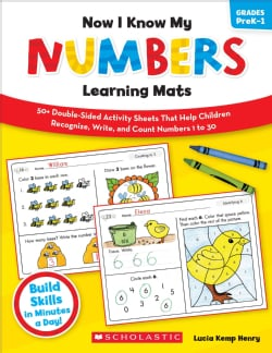 Now I Know My Numbers Learning Mats, Grades PreK-1: 50+ Double-sided Activity Sheets That Help Children Recognize... (Paperback)