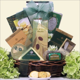 Tempting Cheese Delights:  Gourmet Cheese Gift Basket