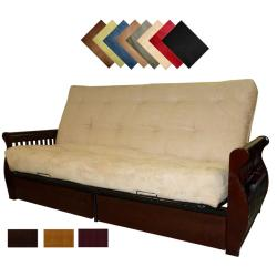Lexington Microfiber Suede Inner Spring Queen-size Futon Sofa Bed Sleeper