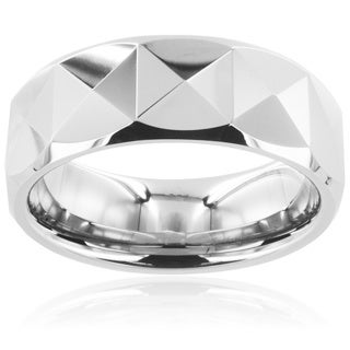 Men's Tungsten Carbide Triangular Prism Ring (8 mm)