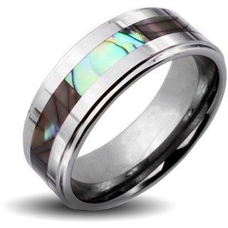 Men's Tungsten Carbide Abalone Inlay Ring (6 mm)