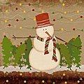"Ankan ""Snowman"" Gallery-Wrapped Canvas Art"