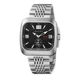 Gucci Gentlemen's 'Coupe' Stainless Steel Bracelet Watch