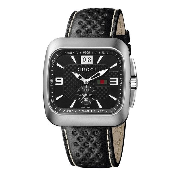 Gucci Men's 'Coupe' Black Dial Quartz Watch