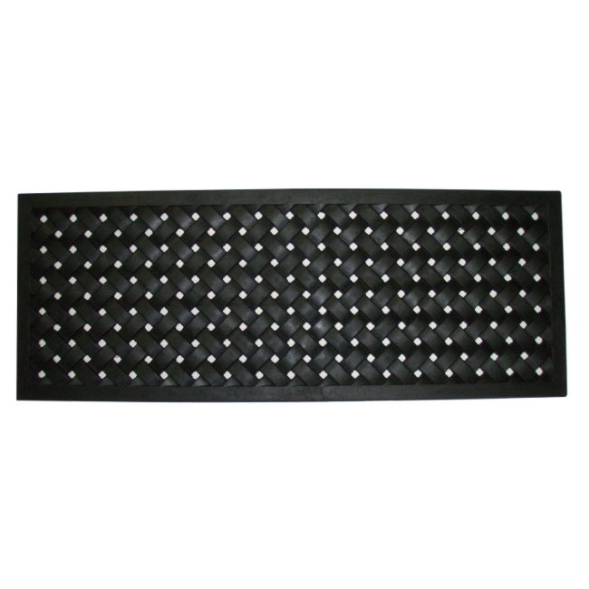 Black 30-inch x 18-inch Braided Rubber Mat