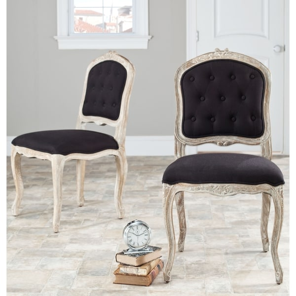 Safavieh Montreux Black/ Antiqued White Side Chairs (Set of 2)