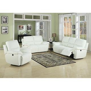 Javier White Sofa/Loveseat Set