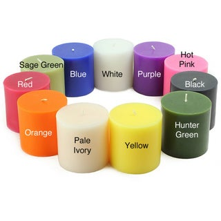 3x3 Inch Pillar Candles (Pack of 12)