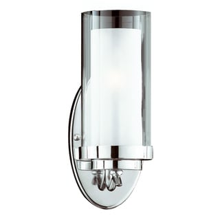 Cylindique 1-Light Chrome Wall Sconce