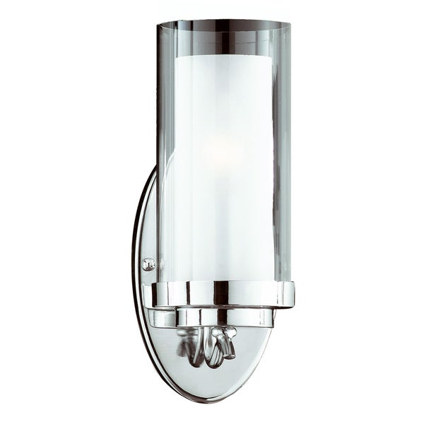 Cylindique 1-Light Chrome Wall Sconce - 14017376 - Overstock.com Shopping - Top Rated TRIARCH ...