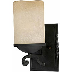 Granada 1-Light Blacksmith Bronze Wall Sconce
