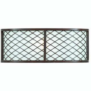 Chainlink 1-Light Bronze Wall Sconce
