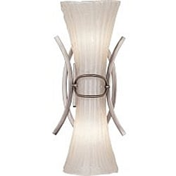 Bali 2-Light Brushed Nickel Wall Sconce