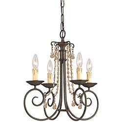Crystorama Soho 4-light Dark Rust Crystal Chandelier