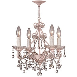 Crystorama Paris Flea Market Collection 4-light Blush Chandelier