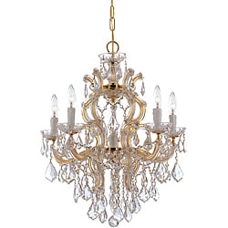 Crystorama Maria Theresa 5-light Polished Gold Chandelier
