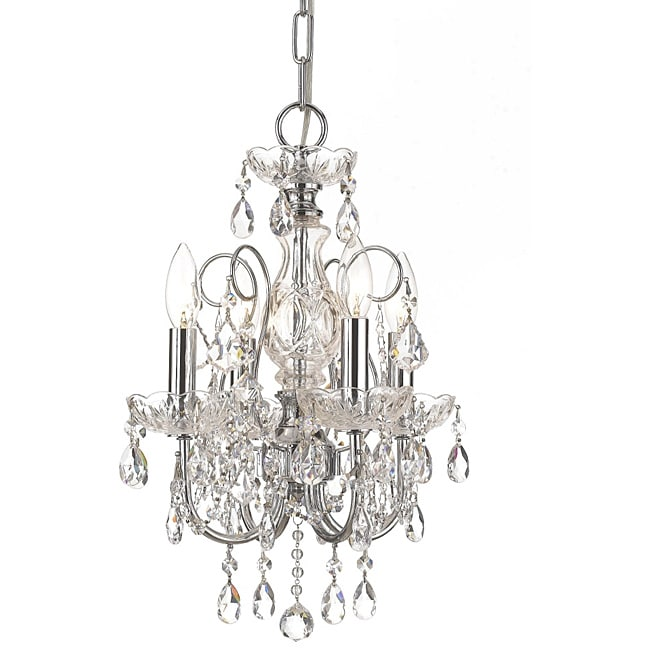 Crystorama Imperial Collection 4-light Polished Chrome Chandelier