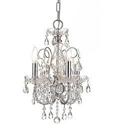 Crystorama Imperial 4-light Polished Chrome Chandelier