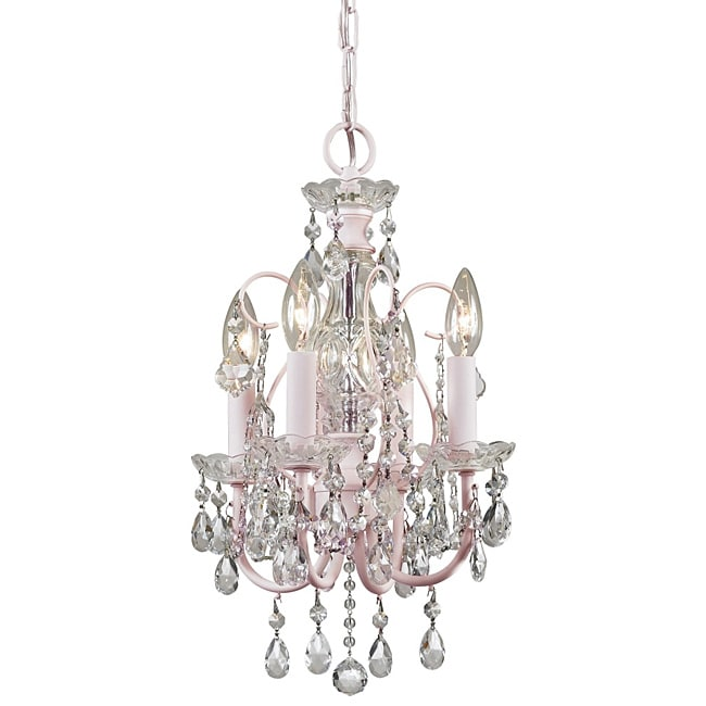 Crystorama Imperial 4-light Blush Chandelier