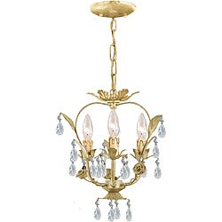 Crystorama Paris Flea Market 3-light Champagne Crystal Chandelier