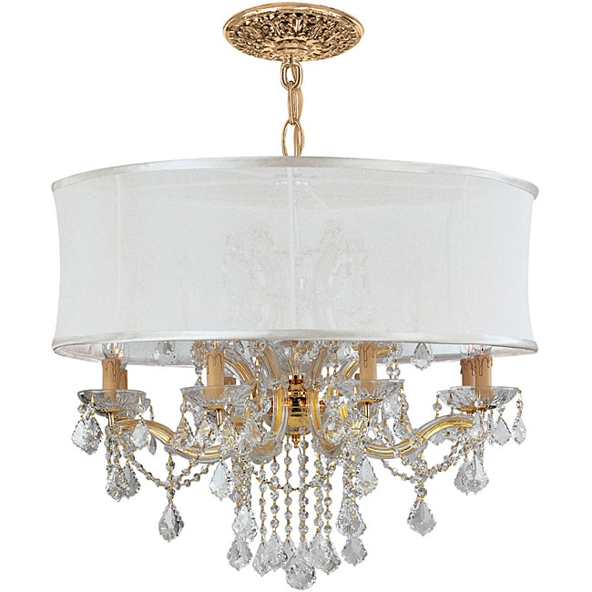 Crystorama Brentwood Collection 12-light Gold/ Crystal Chandelier