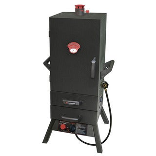 Black Vertical Gas Smoker