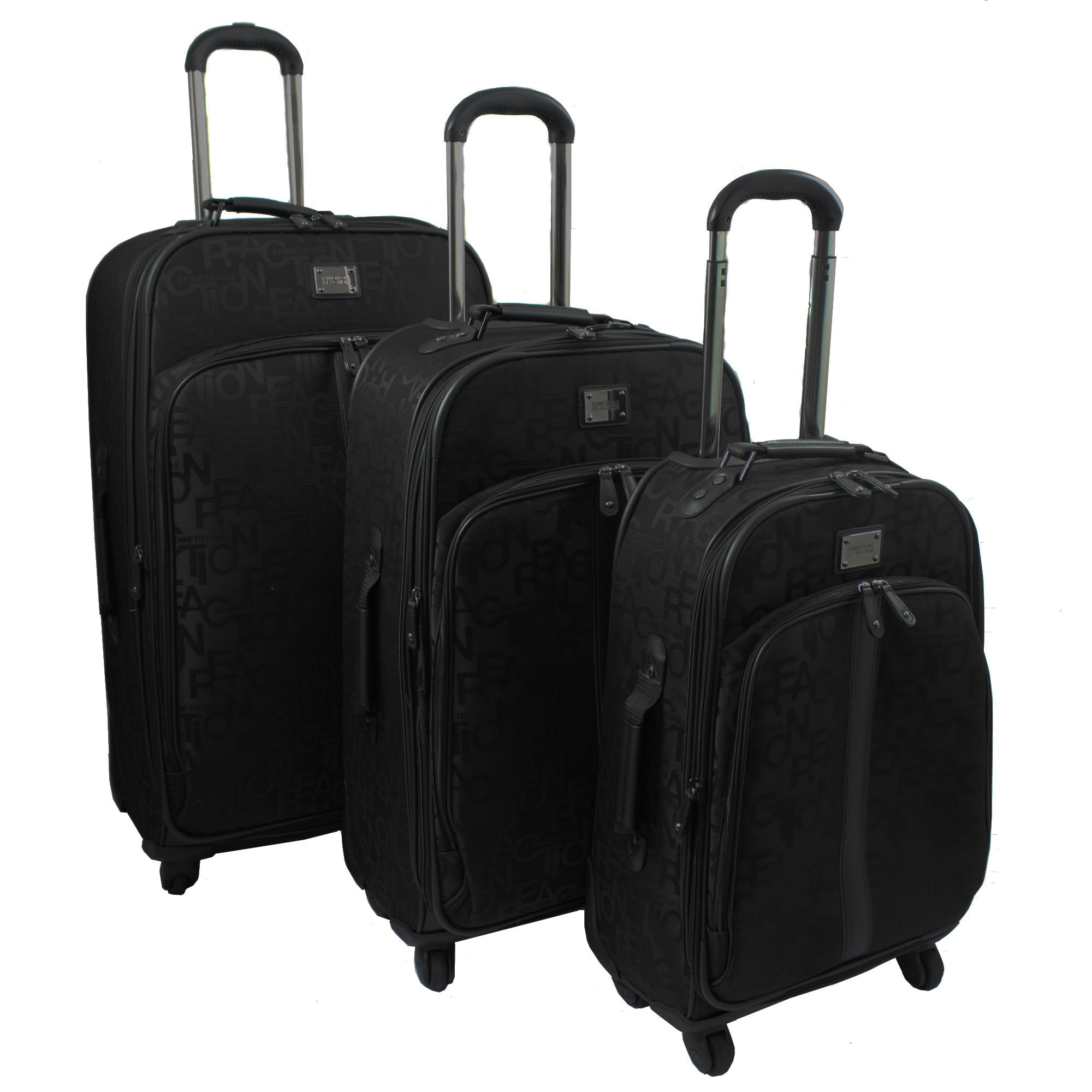 Kenneth Cole Reaction 'Taking Flight' Black 3-piece Expandable Spinner Luggage Set