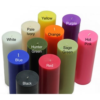 Bulk 2-inch x 6-inch Pillar Candles (Case of 24)