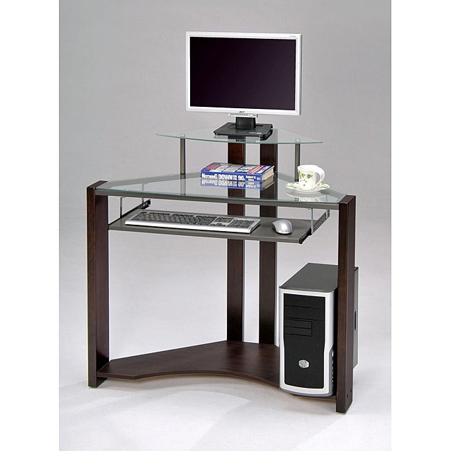 Cherry-finished Four-shelf Computer Desk - Overstock™ Shopping