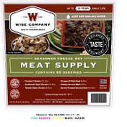 Wise Company 60-serving Gourmet Freeze Dry Meat with 20 Bonus Rice Servings