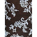 Alliyah Handmade New Zeeland Blend Floral Brown Area Rug (5 x 8)