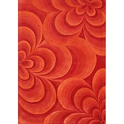 Alliyah Handmade Red New Zealand Blend Wool Rug  (8' x 10')